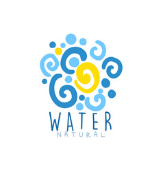 Hand drawn patterned whirlpool water for logo with vector