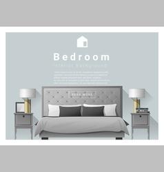 Interior design bedroom background 2 vector