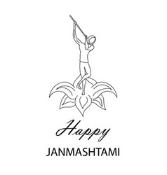 Krishna janmashtami background vector