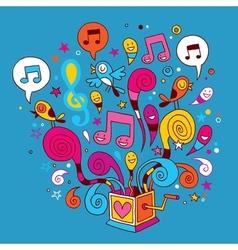 Music box vector