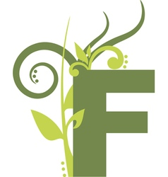 nature F vector image vector image