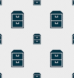 nightstand icon sign Seamless pattern with vector image