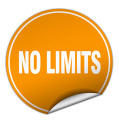 No limits round orange sticker isolated on white vector