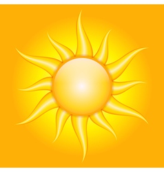 orange background with sun vector image vector image