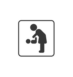 pictogram for mother and baby restroom vector image
