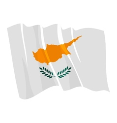Political waving flag of cyprus vector