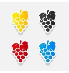 Realistic design element grapes vector