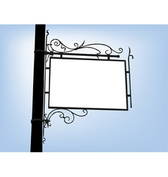 retro signboard vector image