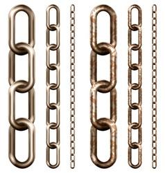 Set of metal chain vector