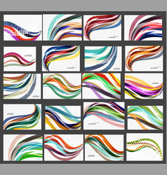 Set of wave elegant modern geometrical templates vector