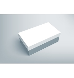 Shoes product cardboard package box vector image
