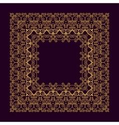Square frame in trendy mono line style - art deco vector image vector image