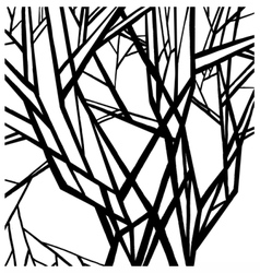 Stylized abstract tree vector image vector image
