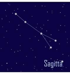 The constellation sagitta star in the night sky vector