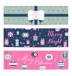 Vintage Christmas Banners Labels Tags vector image vector image
