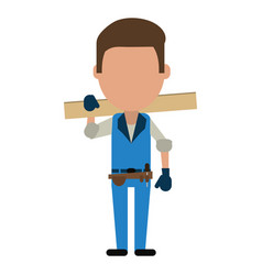 Worker avatar full body vector