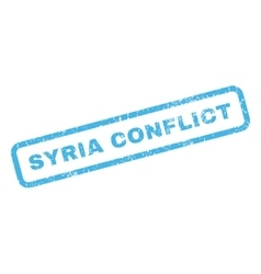 Syria Conflict Rubber Stamp vector image
