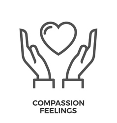 Compassion feelings icon vector