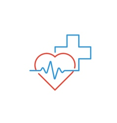Healthcare and medical logo and icon concept heart vector