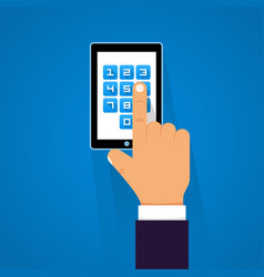 password screen device vector image