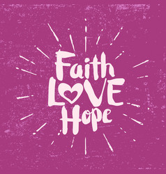 Faith hope love vector
