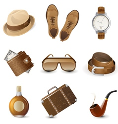 Men accessories vector image
