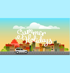 Season travelling summer holidays concept vector