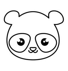 cute and tender bear panda kawaii style vector image