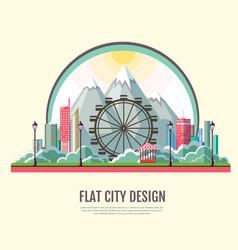Flat style modern design of public park vector