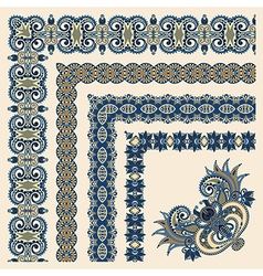 Collection of ornamental floral vintage frame desi vector