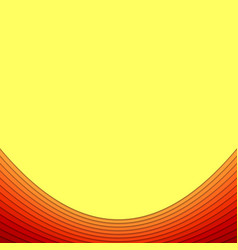 Hot abstract background from curved layers vector