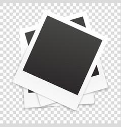many retro photo frames isolated on transparent vector image