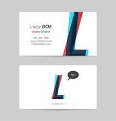 Business card template - letter l vector