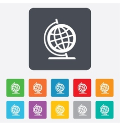 Globe sign icon geography symbol vector
