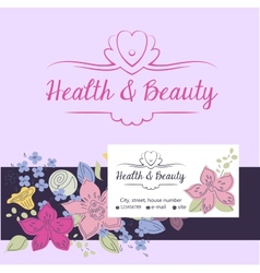 Health and beauty logo background vector