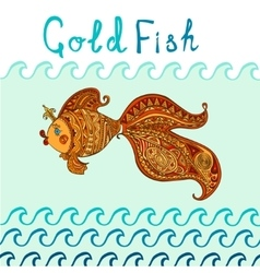 Goldfish and patterned tail vector