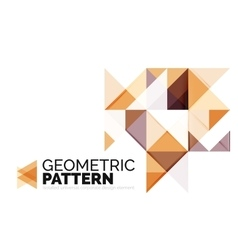 Geometric triangle mosaic pattern element isolated vector