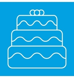 Birthday cake thin line icon vector
