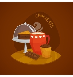 Chocolate design concept set vector