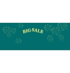 Big sale word salute vector