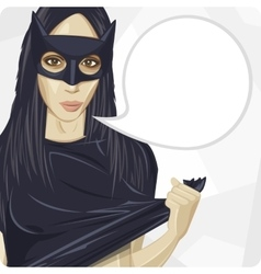 Girl in the mask vector