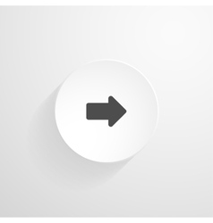 White round button arrow icon vector