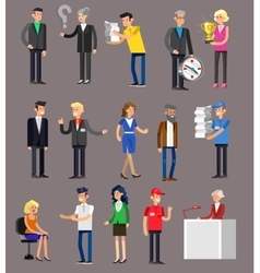 Detailed characters people business vector