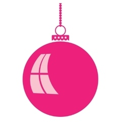 Abstract christmas ball in flat style vector