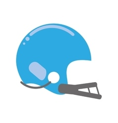 American football helmet sport vector