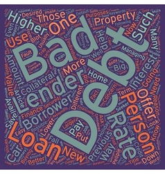 Bad debt personal loans easy way to finance your vector