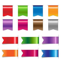 Big Sale Color Ribbons Set vector image vector image