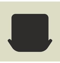 Black silhouette of leprechaun hat on white vector