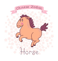 Chinese zodiac - horse vector