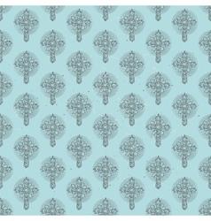 Christmas cross pattern vector image
